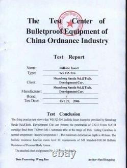 10PCS Body Armor Bullet proof Ceramic compound NIJ III (Stand Alone)