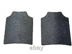 11x14 Level 3 Curved Body Armor Bulletproof Plates Pair