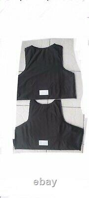 2 BULLETPROOF Made With Kevlar Plates Body armor 3a Inserts Panels USA llla