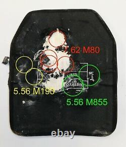 2pcs Level III + bulletproof body armor, ballistic plates 10x12 4.6 lbs