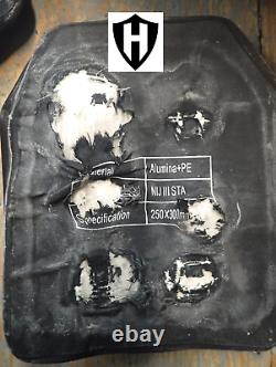 2pcs Level III+ bulletproof body armor, ballistic plates 10x12 4.6 lbs Level 3+