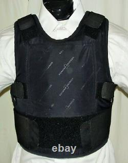 3XL/W IIIA Lo Vis Concealable Body Armor Carrier BulletProof Vest with Inserts