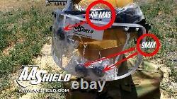 AA Shield Ballistic Visor Face Bulletproof Glass Mask For Helmet Lvl IIIA 3A