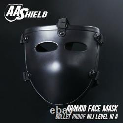 AA Shield Ballistic Visor Mask Bulletproof Face Shield Aramid Core Lvl IIIA 3A