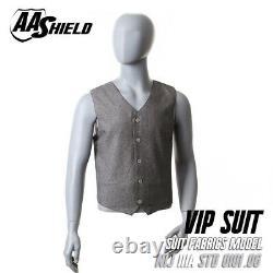 AA Shield BulletProof Concealable VIP Suit Vest Body Armor Lvl IIIA 3A XL Gray