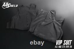 AA Shield BulletProof VIP Suit Vest Concealable Aramid Armor Lvl IIIA 3A M Black