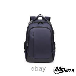 AA Shield Bullet Proof School Bag Ballistic IIIA Plate Body Armor Backpack Navy