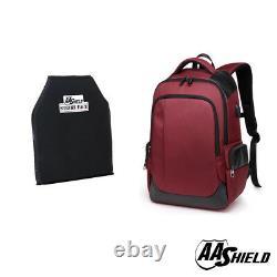 AA Shield Bullet Proof School Bag Ballistic IIIA Plate Body Armor Backpack Red