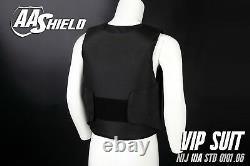 AA Shield Bullet Proof VIP Suit Vest Concealable Aramid Lvl IIIA 3A XL Black