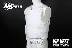 AA Shield Bullet Proof VIP Vest Concealable Aramid Body Armor Lvl IIIA3A M White