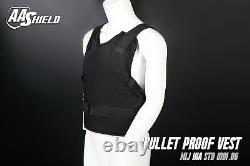 AA Shield Bullet Proof Vest Comfort Concealable Aramid Armor Lvl IIIA3A XL Black