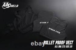AA Shield Bullet Proof Vest Comfort Concealable Body Armor Lvl IIIA 3A L Black