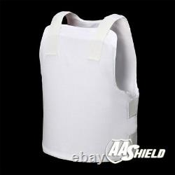 AA Shield Bullet Proof Vest Concealable Armor Aramid Suit Lvl IIIA 3A L White