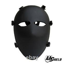 AA Shield Bulletproof Mask Aramid Core Mask Ballistic Full-Face Visor Level IIIA