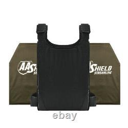 AA Shield Bulletproof Soft Armor UHMWPE Concealed IIIA 10x12 Ballistic Plate Kit