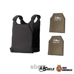 AA Shield Bulletproof Soft Body Armor UHMWPE Concealed IIIA 10x12 Plate Kit