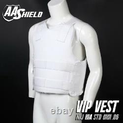 AA Shield Bulletproof VIP Vest Concealable Aramid Body Armor Lvl IIIA3A L White