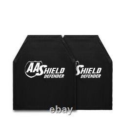 AA Shield Defender Bulletproof Soft Armor Aramid Plate NIJ 3A&HG2 10x12-T2 Pair