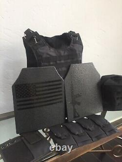AR500 Plates Tactical Carrier lll+ Body Armor Made With Kevlar BULLETPROOF Vest