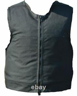 Aegis Hawk Black Overt Body Armour Bullet Proof Stab Vest For Security Grade A