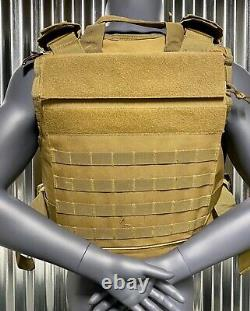 Ar500 Plate Carrier Tan 10x14 Level III Body Armor Bullet proof vest