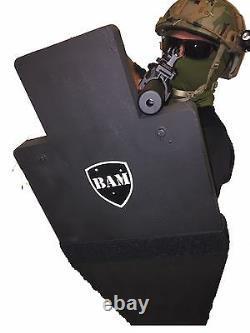 BALLISTIC SHIELD Bullet Proof Body Armor Level III+ L3+ 12x23 STOPS 556 308
