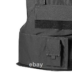 BLACK Police Force Bullet-Proof / Body Armor Vest Level IIIA 3A Size L Large