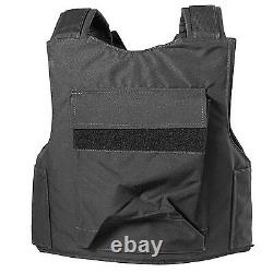 BLACK Police Force Bullet-Proof / Body Armor Vest Level IIIA 3A Size M Medium
