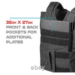 BLACK Police Force Bullet-Proof / Body Armor Vest Level IIIA 3A Size XL