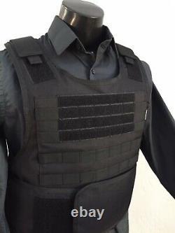 BULLETPROOF Carrier Vest Free Made With Kevlar Plates 3a M L Xl Xxl 3xl 2xl USA