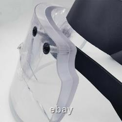 Ballistic Glass Visor Tactical Bullet Proof Face Shield Mask for Helmet NIJ IIIA