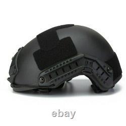 Black NIJ IIIA Aramid Ballistic Bulletproof Helmet Bullet Resistant MICH