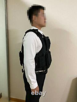 Black Python pattern Combat Tactical Soft Bullet proof vest IIIA (L, XL)