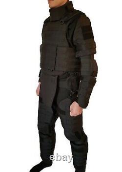 Black XL set Body Armor Gear Protection bulletproof Tactical vest & pads