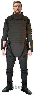 Black XXL set Body Armor Gear Protection bulletproof Tactical vest & pads