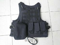 Black colour tactical bullet proof vest IIIA NIJ0101.06 SizeM