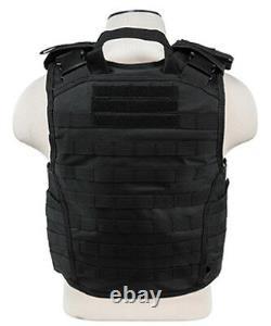 Body Armor AR500 Steel Plates Base Coating Bullet Proof Vest BLK L-XXL+ 10x12s