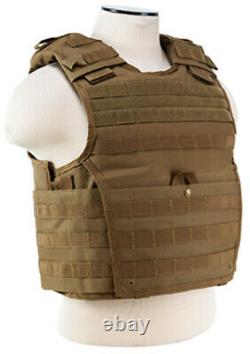 Body Armor AR500 Steel Plates Base Coating Bullet Proof Vest TAN M-XXL 10x12s