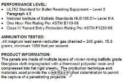 Body Armor Bullet Proof Plates ArmorCore Level IIIA+ 3A+ 10x12 6x6 Bundle