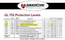 Body Armor Bullet Proof Plates ArmorCore Level IIIA+ 3A+ 11x14 6x6 Bundle