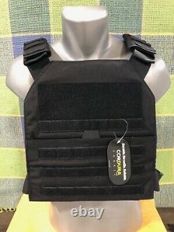 Body Armor Bullet Proof Vest AR500 Steel Plates Base Coating- BLK M-XXL