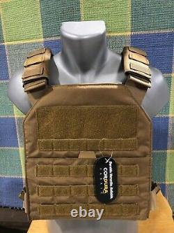 Body Armor Bullet Proof Vest AR500 Steel Plates Base Frag Coating Rebel C