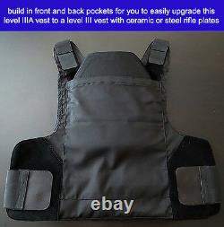 Brand New Concealable Bulletproof Vest Stabproof Body Armor NIJ 3A Small