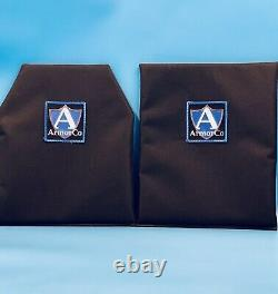 Bullet Proof Vest Plates Made with Kevlar NIJ IIIA 10 x 12 (2) FREE SHIPPING