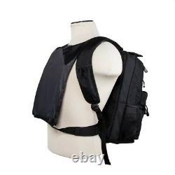 Bulletproof Backpack Guardianpack Gray Front Back Ballistic Soft Panel NcSTAR