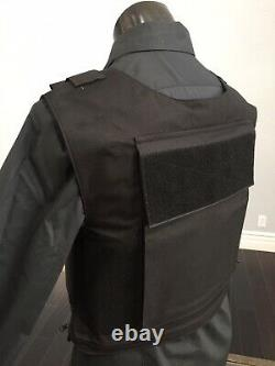 Bulletproof Carrier Vest Made With Kevlar Plates Body Armor Inserts Bullet Proof
