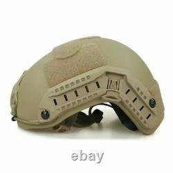 Bulletproof Helmet Military Level IIIA FAST FDE TAN Ballistic Helmet Large USA