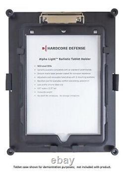 Bulletproof Tablet Holder with hand strap Hardcore Defense Alpha Light NIJ IIIA