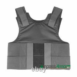 Concealable Bulletproof Body Armor Vest made with UHMWPE Self Defense NIJ IIIA