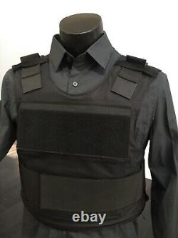 Concealable Bulletproof Vest Carrier BODY Armor Made With Kevlar 3a Inserts